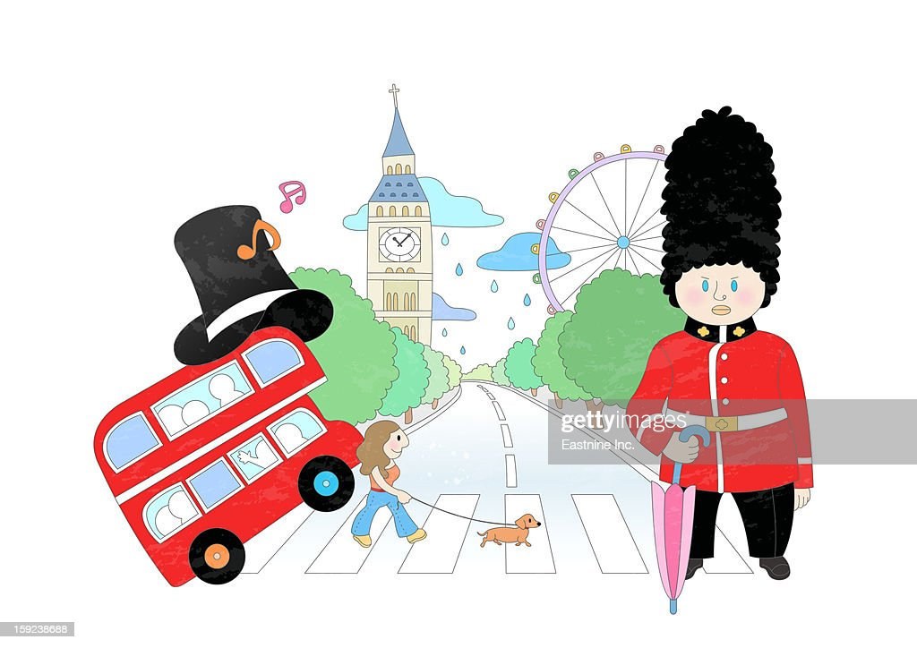 Attractions of britain : Stock Illustration