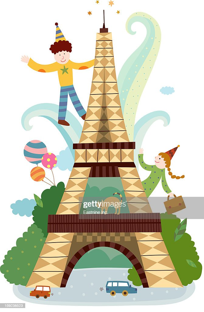 Attractions of Paris : Stock Illustration