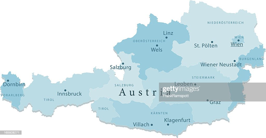 Austria Vector Map Regions Isolated Vector Art Getty Images - Austria regions map
