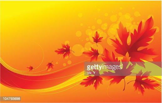 Autumn leaves : Vector Art
