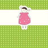 Baby arrival card for you. Vector illustration
