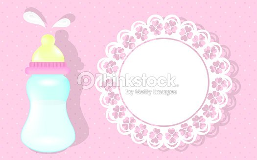 Baby girl shower card pink background as greeting card for newborn baby girl shower card pink background as greeting card for newborn stock illustration m4hsunfo