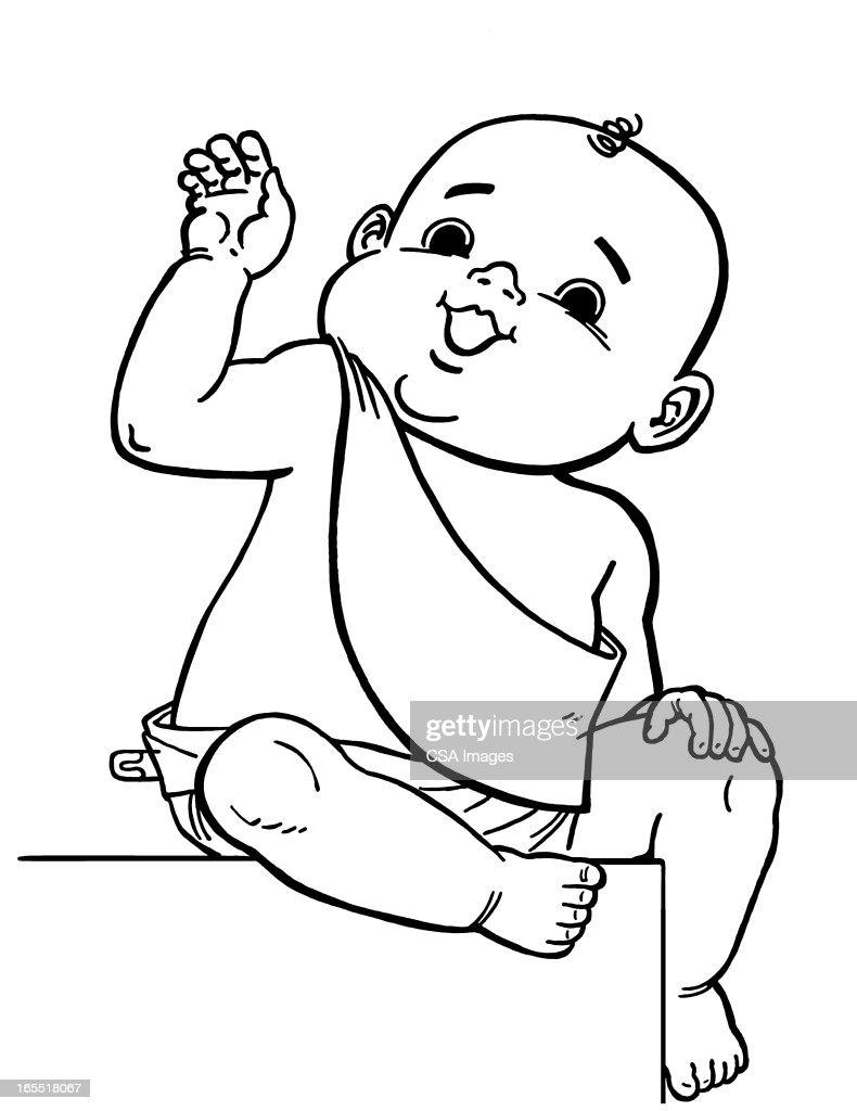 Baby New Year : Stock Illustration