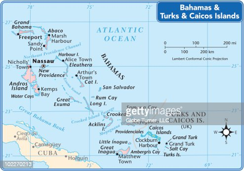 Bahamas Country Map Vector Art Getty Images - Bahamas country political map