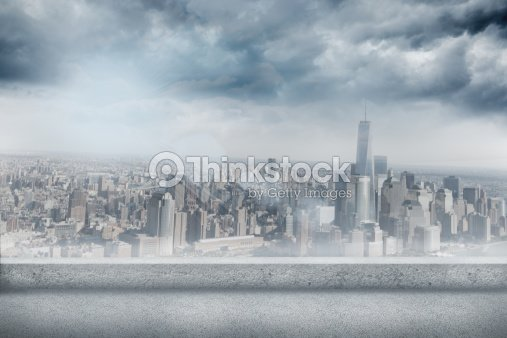 Balcony overlooking city illustration thinkstock for Balcony overlooking city