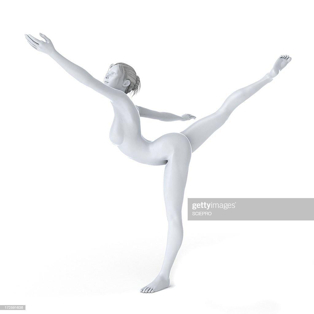 Ballet dancer, artwork : Stock Illustration