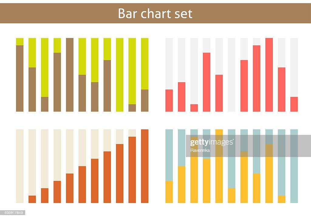 Conjunto de gráfico de barras : Ilustração de stock