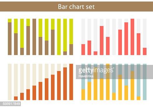 Bar chart set : Stock Illustration