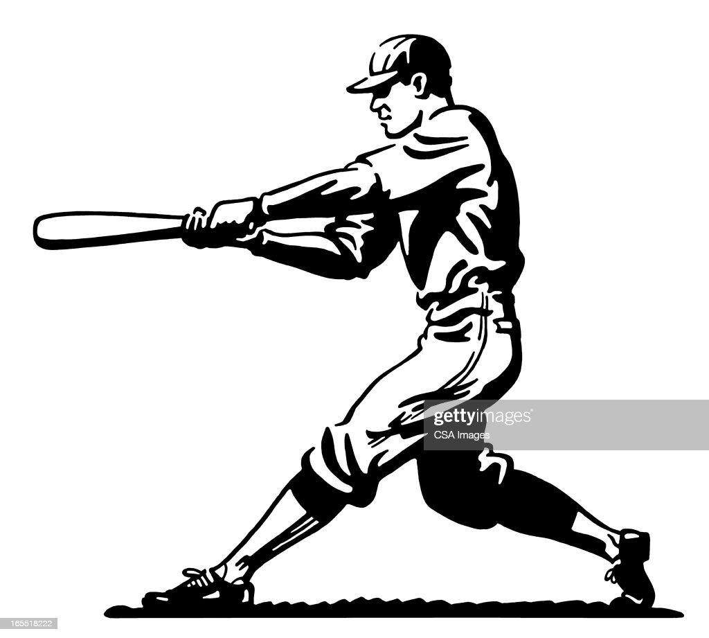 Baseball Batter : Stock Illustration