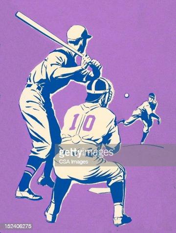 Baseball Game : Stock Illustration