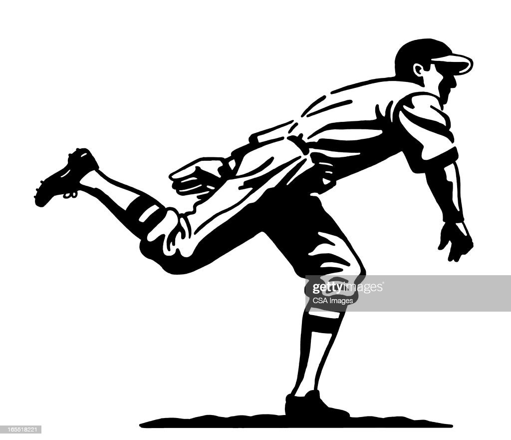 Baseball Pitcher : Stock Illustration