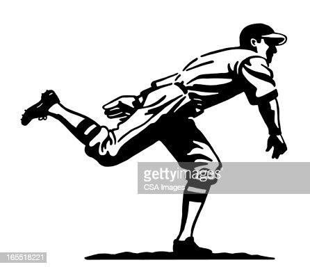 Baseball Pitcher : Stock Illustration