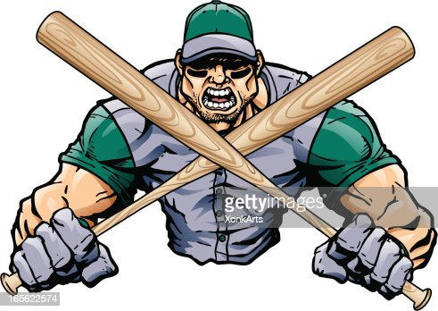Baseball Player With Bats Vector Art | Getty Images