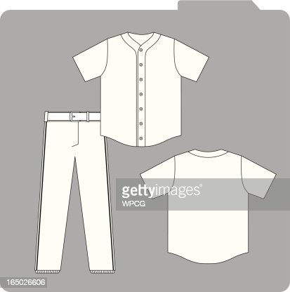baseball uniform template vector art getty images. Black Bedroom Furniture Sets. Home Design Ideas