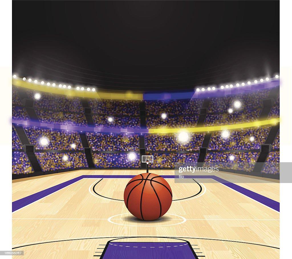 Stadium Lights Svg: Basketball Arena Vector Art