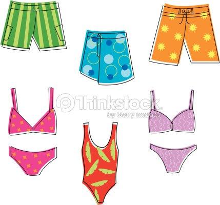 Maillots de bain clipart vectoriel thinkstock - Dessin de maillot de bain ...