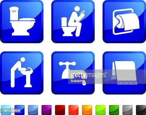 bathroom break royalty free vector icon set stickers   Vector Art. Bathroom Break Royalty Free Vector Icon Set Stickers Vector Art