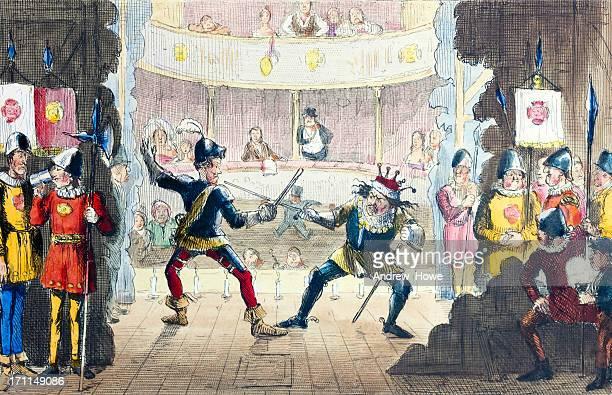 Battle of Bosworth on Stage Illustration