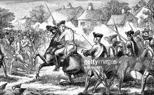 Battles Of Lexington And Concord Stock Illustration ...