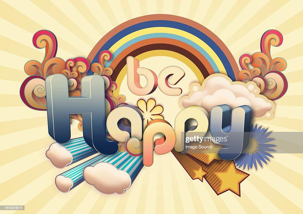 Be Happy illustration : Stock Illustration