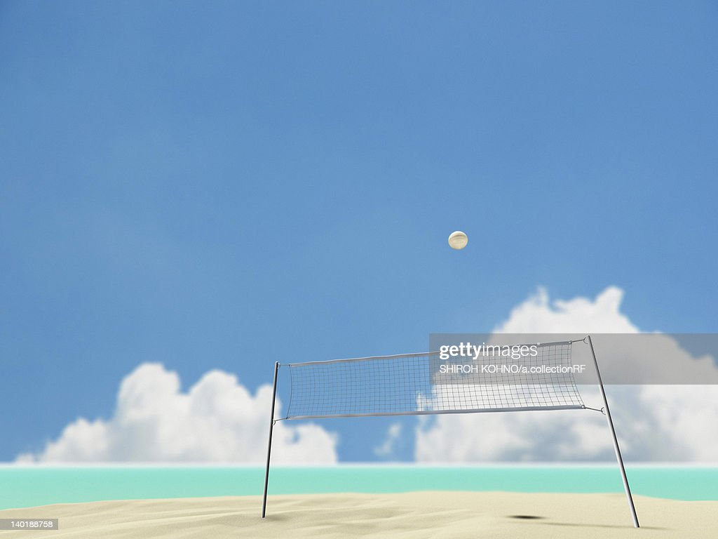 Beach Volleyball : Stock Illustration