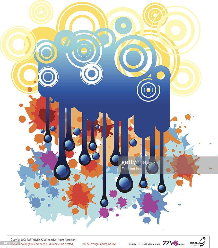 beautiful water splash : Vector Art
