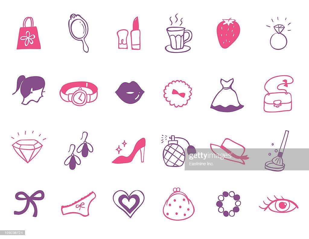 beauty Icon set : Stock Illustration