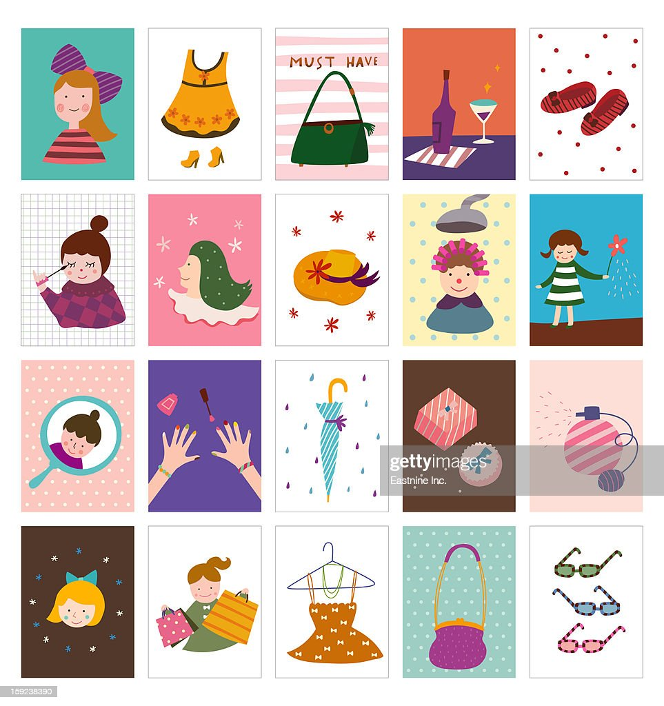 Beauty items : Stock Illustration