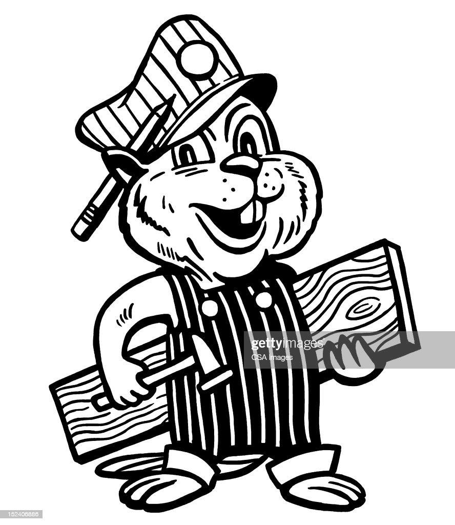 beaver handyman stock illustration getty images