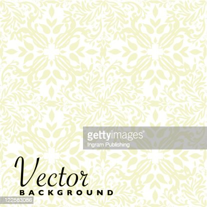 beige floral seamless repeat background with square tile : Clipart vectoriel
