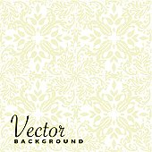 beige floral seamless repeat background with square tile