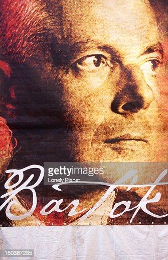 Bela Bartok poster. : Stock Illustration