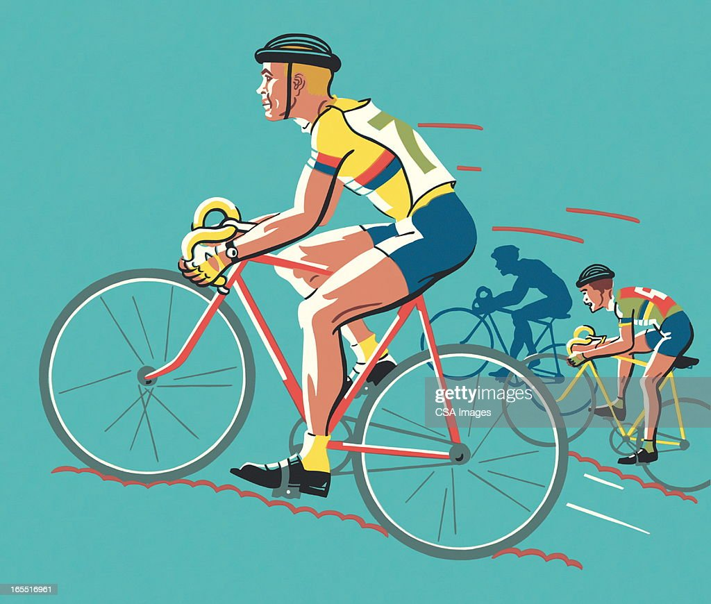 Bicycle Race : Stock Illustration
