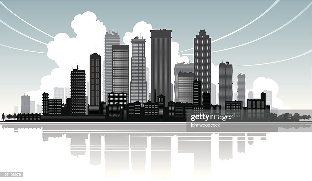 Big city skyline : Vector Art