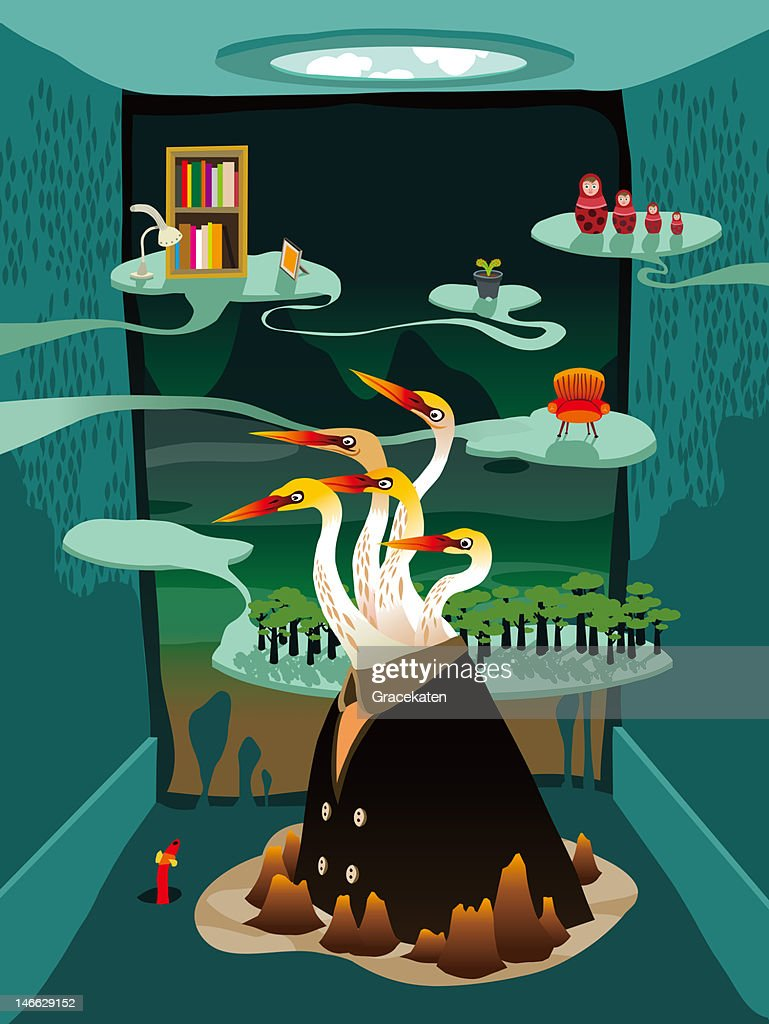 Bird man : Stock Illustration