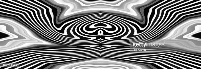 Black and White Curved Abstract Design : Stock Illustration
