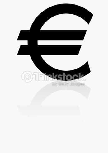 Black And White Illustration Of Euro Symbol Stock Illustration