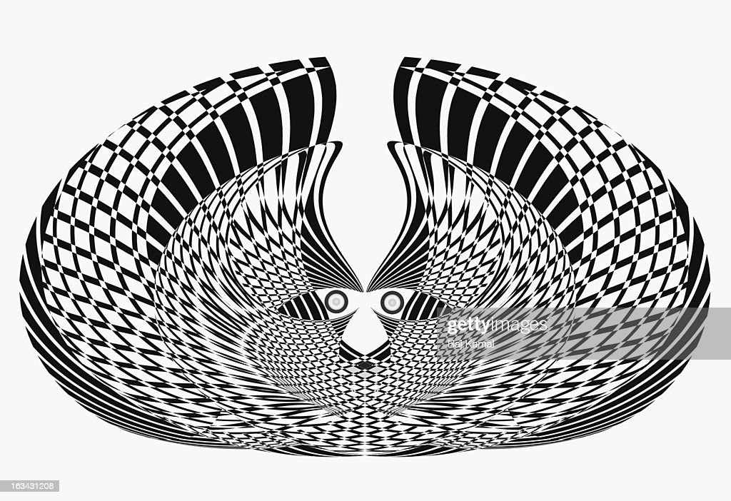 Black and White Wings Vector. Abstract : Stock Illustration