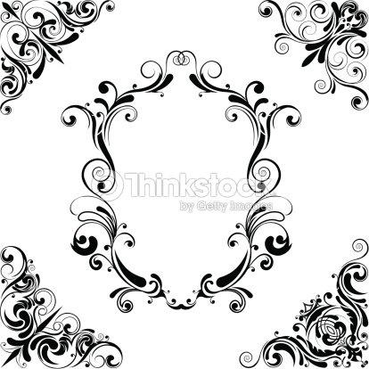 Black Corner Design stock vector - Thinkstock