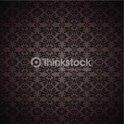 Black Gothic Repeating Seamless Wallpaper Background Design Concept Vector Art