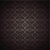 Black gothic repeating seamless wallpaper background design concept