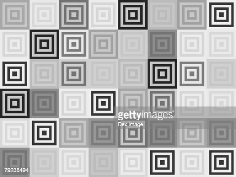 Black. Grey and white square repeated pattern : Stock Illustration