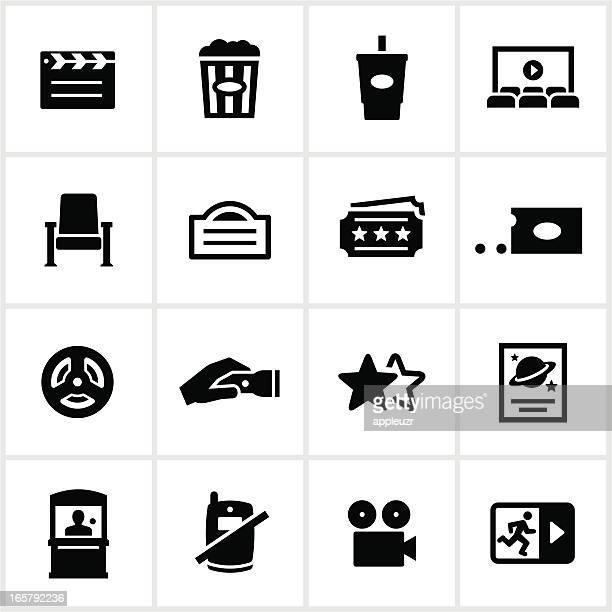 Black Movie Theater Icons