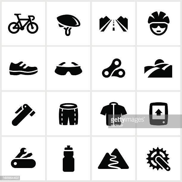 Black Road Biking Icons