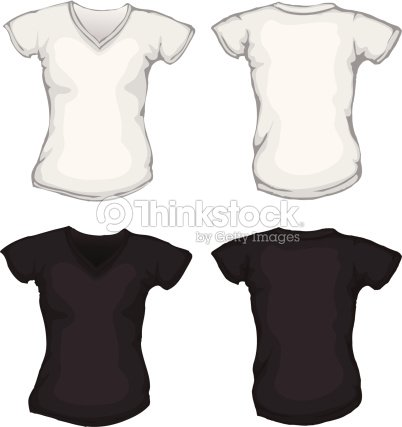 black v neck t shirt template - photo #20