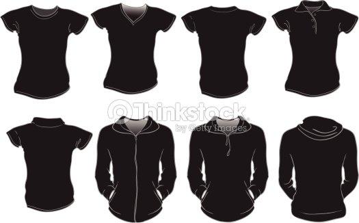 Thinkstock Di Nera Arte Modello Tshirt Donna Vettoriale D9IE2YWH