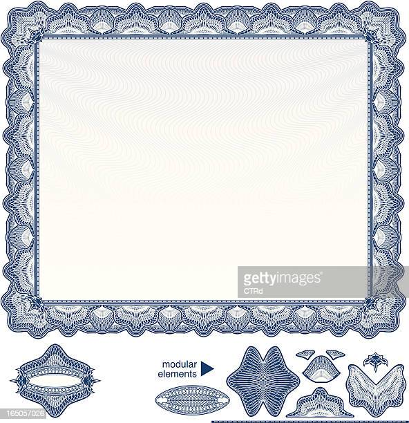 Blank Diploma or Certificate