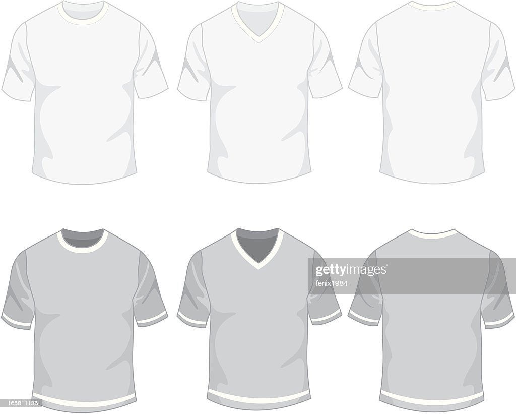 Blank Mens Tshirt Vector Art Getty Images