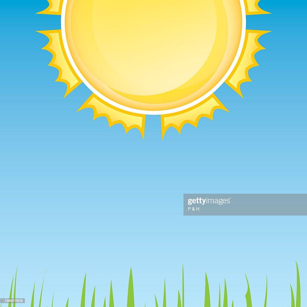 Blazing sun : Stock Illustration