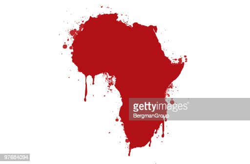 Bleeding Africa : Stock Illustration